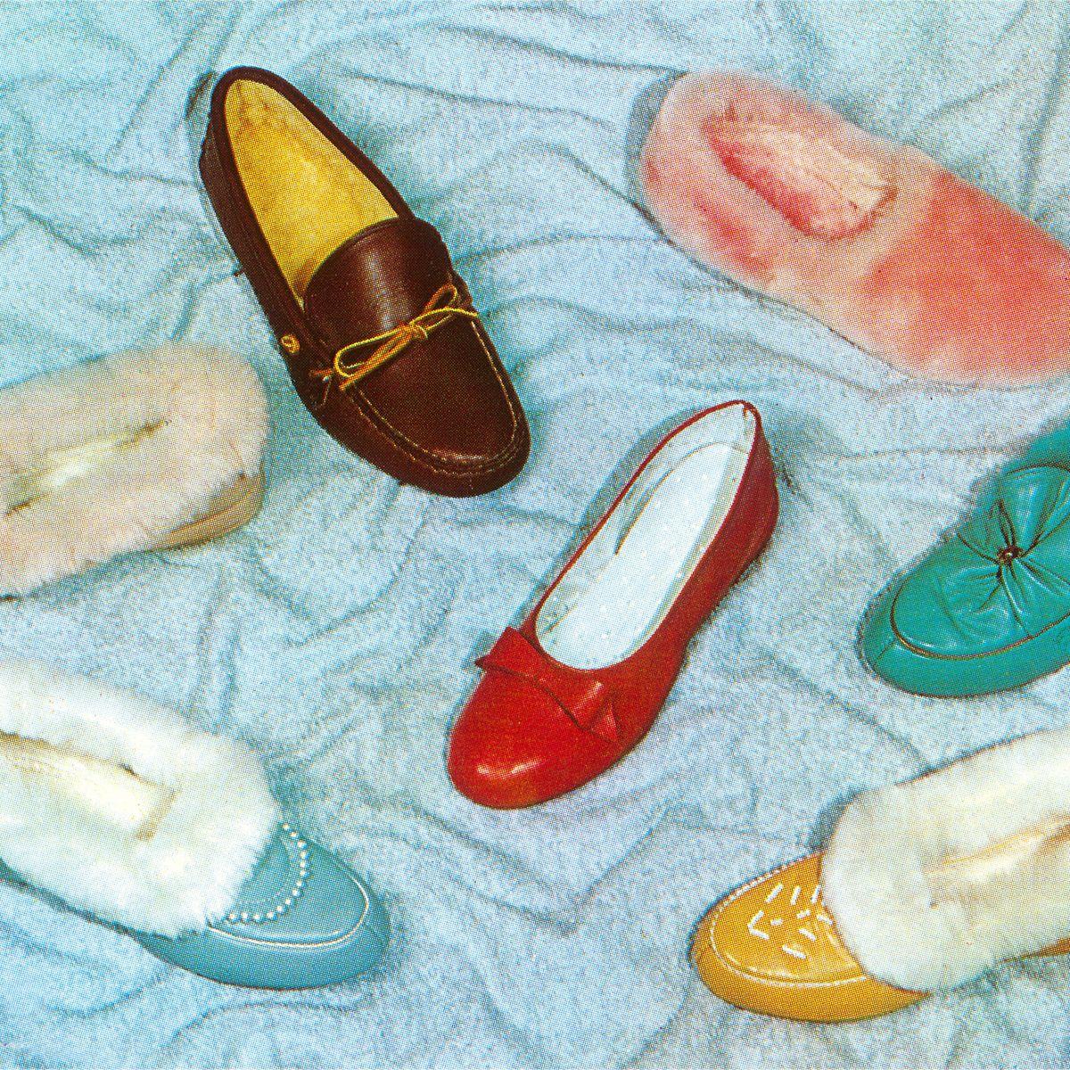 Womens Office Felt Peep Toe Shoes White Leather Flats