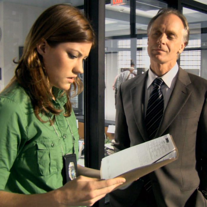 Debra Morgan and Frank Lundy playing it cool on 'Dexter.'
