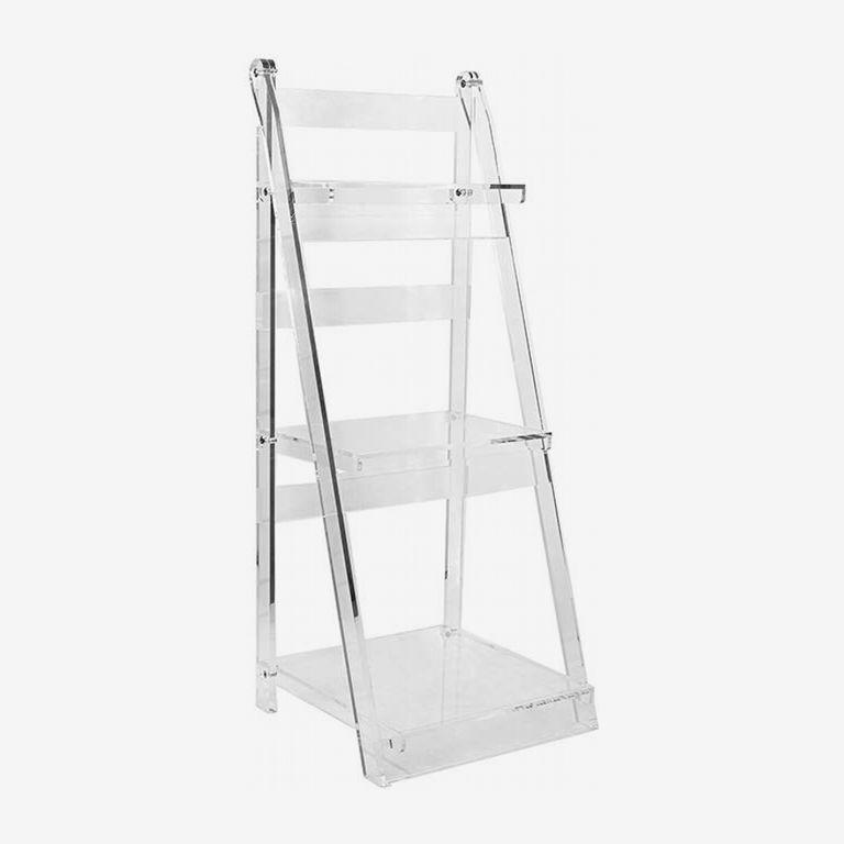 Designstyles Clear Acrylic Ladder Shelf