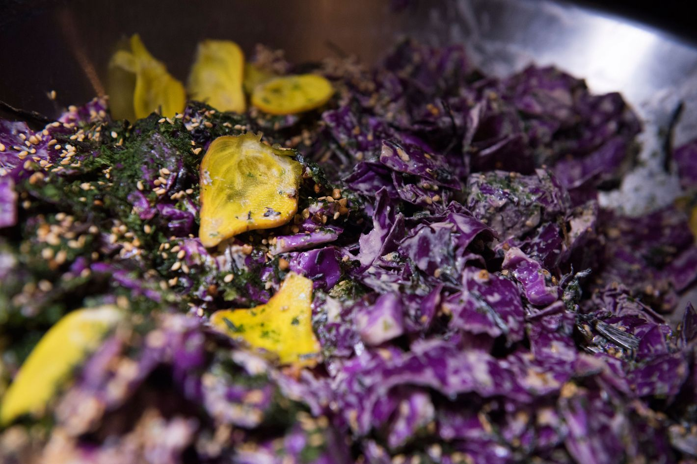 Dimayuga's red-cabbage salad.
