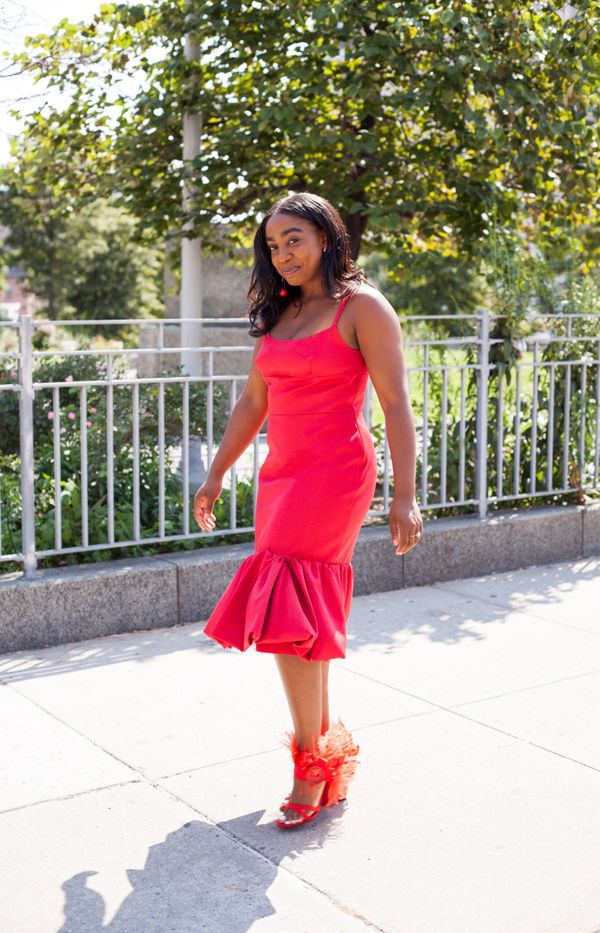 Prada Ruffle Cocktail Dress