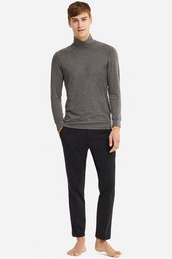 Uniqlo Men's Heattech Extra Warm Turtleneck Long-Sleeve T-shirt