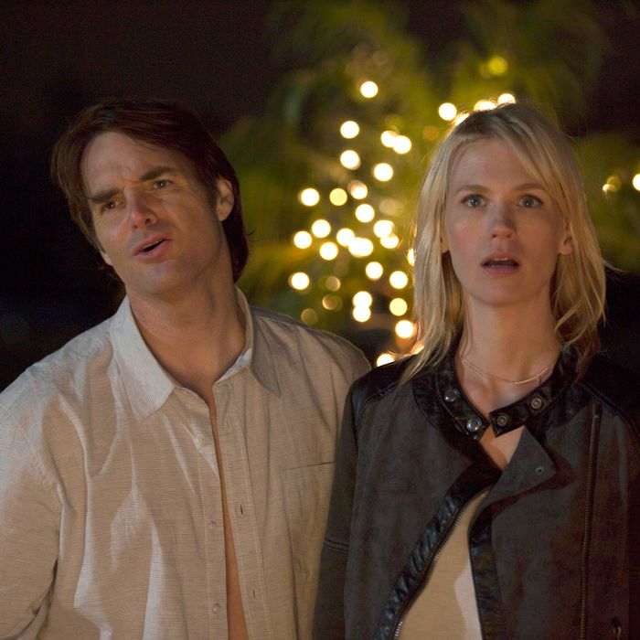 THE LAST MAN ON EARTH: Phil (Will Forte, L) and Melissa (January Jones, R) get a big surprise in the one-hour