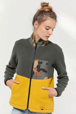Herschel Supply Co. Colorblock Fleece Jacket