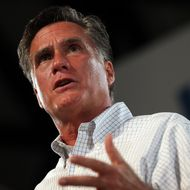 APOPKA, FL - OCTOBER 06:  Republican presidential candidate, former Massachusetts Gov. Mitt Romney speaks during a campaign rally on October 6, 2012 in Apopka, Florida.  Mitt Romney is campaigning in Florida after a visit to the state of Virginia yesterday. (Photo by Justin Sullivan/Getty Images)