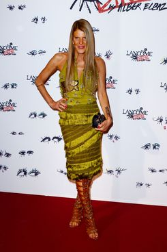 Anna Dello Russo attends the 'Lancome Show By Alber Elbaz' Party at Le Trianon on July 2, 2013 in Paris, France.