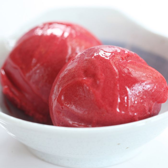 Black raspberry sorbet: don't mind if we do.
