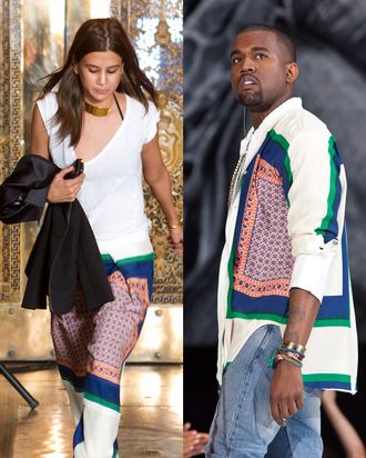 Christine and Kanye. Twinsies!