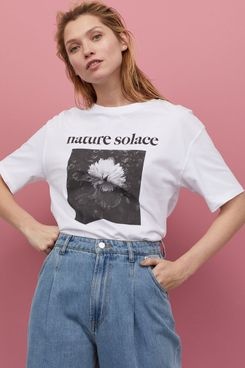 H&M White/Nature Solace T-Shirt