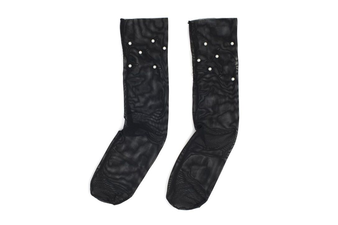 Party Store Pearl and Glitter Mesh Socks