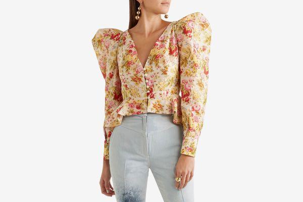 Ronald Van Der Kemp Floral-print Cotton and Silk Jacket