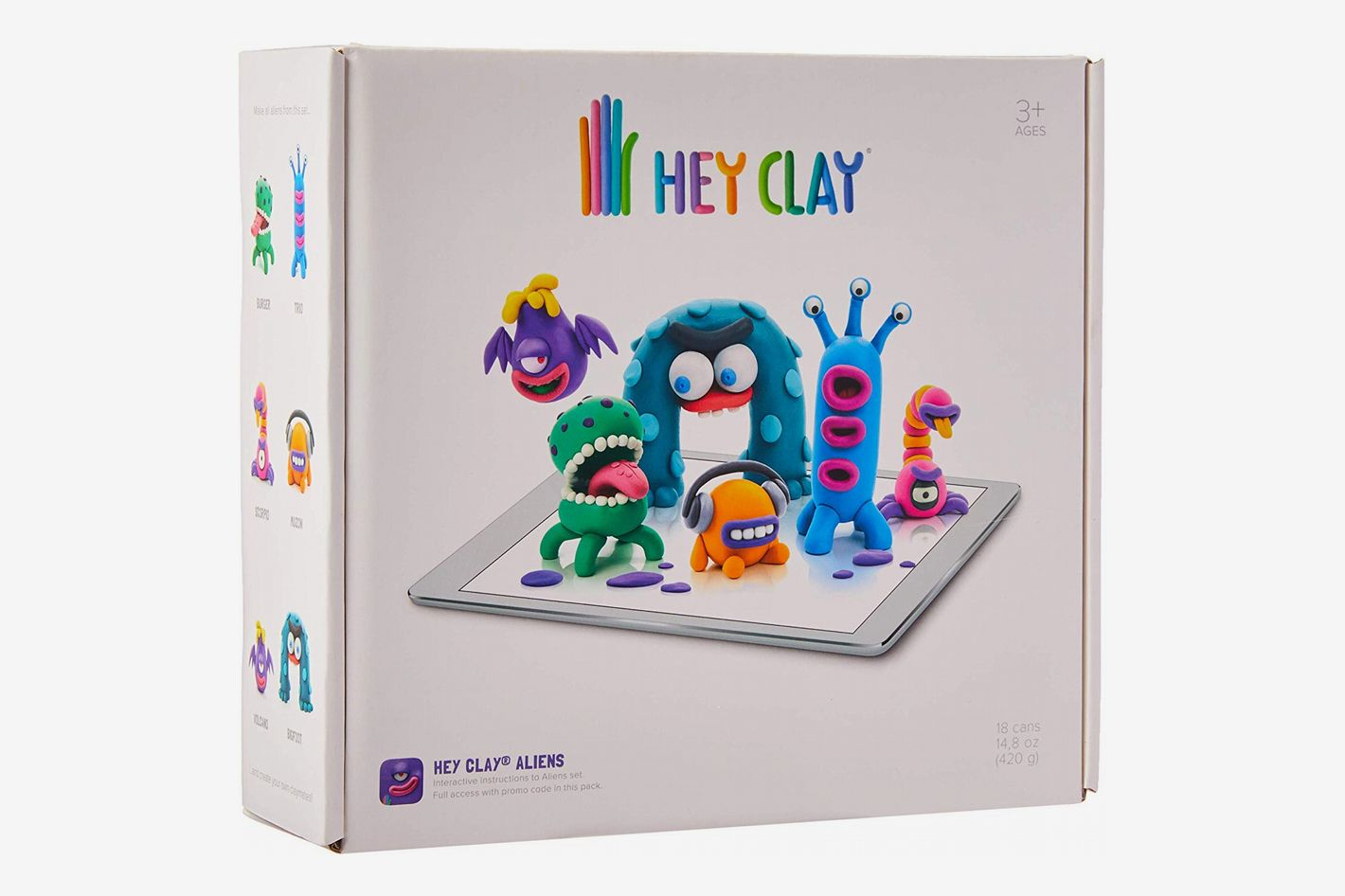 Hey Clay Aliens Colorful Kids' Modeling Air-Dry Clay