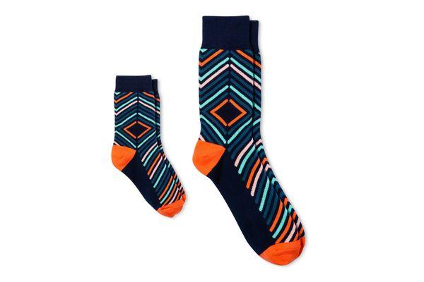 Pair of Thieves Men's Kid/Dad Crew Socks With Micro Stripe