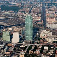 The Citigroup (Citi) office tower stands in the Long Island City (LIC) section of Queens