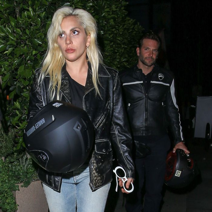 Lady Gaga Bradley Cooper: Vroom, Vroom: Lady Gaga And Bradley Cooper Rode A