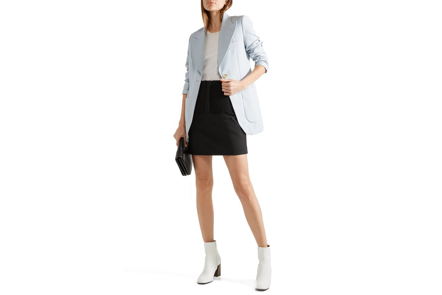 Tibi Stretch-Knit Mini-Skirt