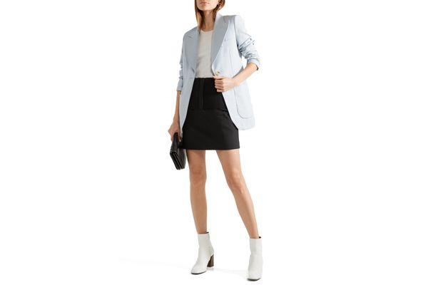Tibi Stretch-Knit Mini-Skirt