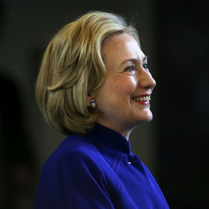Former Secretary of State Hillary Clinton speaks during a during a round table event at the Children's Hospital Oakland Research Institute on July 23, 2014 in Oakland, California.