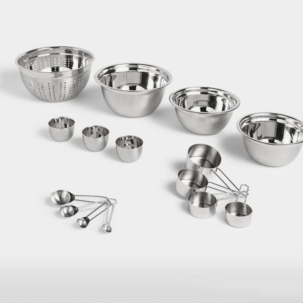 John Lewis & Partners Essentials Stainless Steel Baking Set, 9 Piece