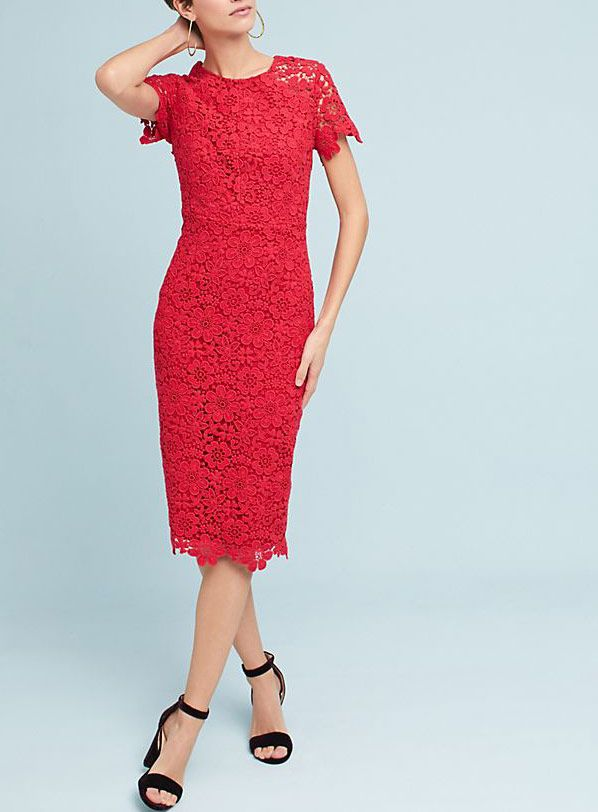 Shoshanna Lace Column Dress
