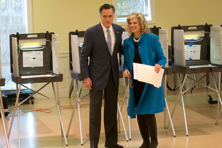 Mitt and Ann, a-casting.