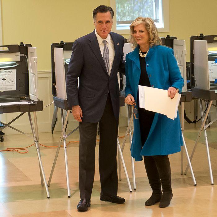 Mitt and Ann, a-casting.