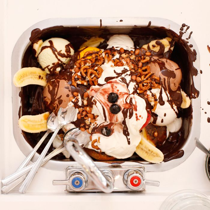Sorry: It took a while to finish this Morgenstern's kitchen-sink sundae.