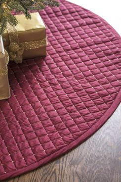 Balsam Hill Regency Dupioni Quilted Christmas-Tree Skirt