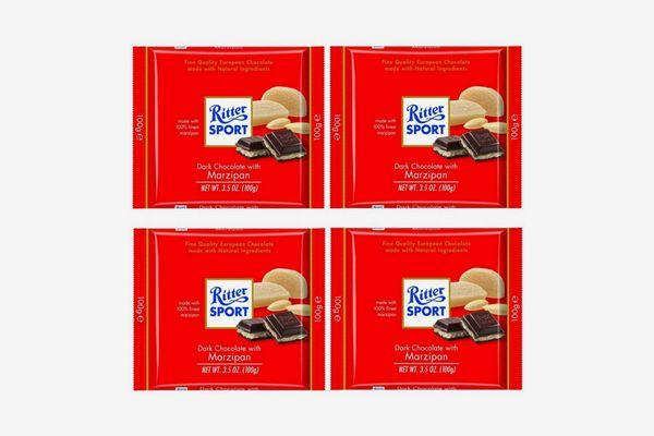 Ritter Sport Bars, Dark Chocolate with Marzipan