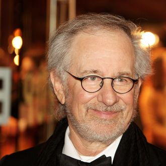LONDON, ENGLAND - JANUARY 08: (UK TABLOID NEWSPAPERS OUT) Steven Spielberg attends the UK premiere of War Horse at Odeon Leicester Square on January 8, 2012 in London, United Kingdom. (Photo by Dave Hogan/Getty Images)
