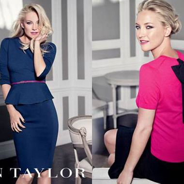 Kate Hudson for Ann Taylor's fall 2012 collection.