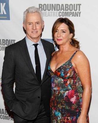 NEW YORK - MARCH 12: Actor John Slattery and his wife actress Talia Balsam attend The Roundabout Theatre 2012 Spring Gala