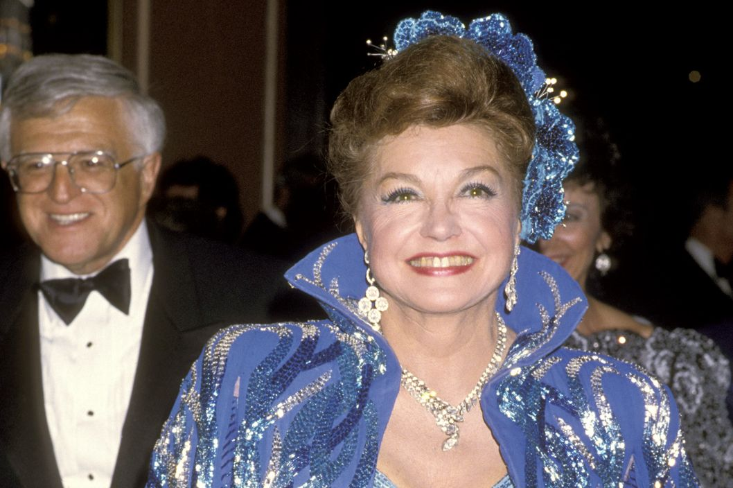 Esther Williams during 58th Annual Academy Awards Governor's Ball at Beverly Hilton Hotel in Beverly Hills, California, United States. (Photo by Ron Galella/WireImage)