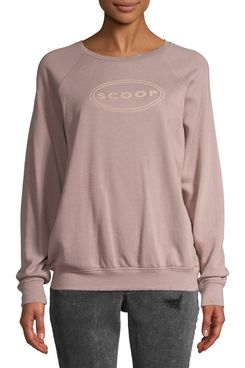Scoop Logo Printed Sweatshirt, Rose