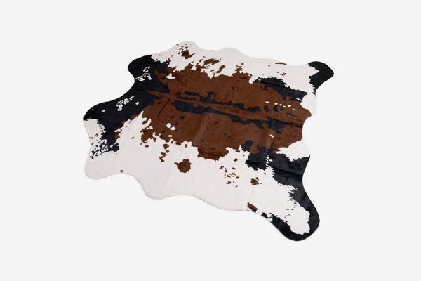 Faux-Fur Cow-Print Rug
