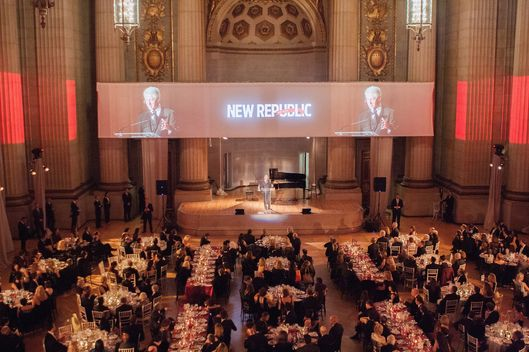 Former President Bill Clinton speaks on stage at the New Republic Centennial Gala at the Andrew W. Mellon Auditorium on November 19, 2014 in Washington, DC.