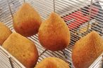 Bertolazzi's coxinhas, fresh from the fryer.