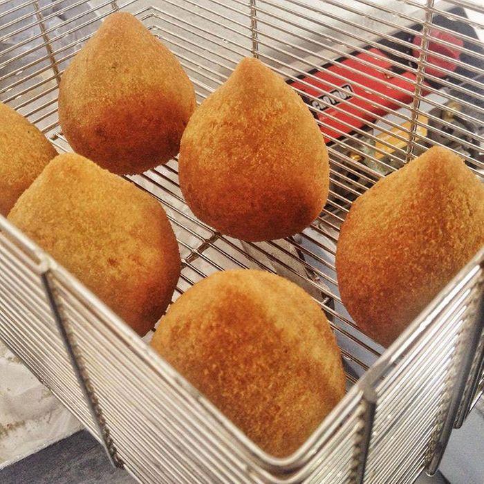 Bertolazzi's coxinhas, fresh from the fryer.