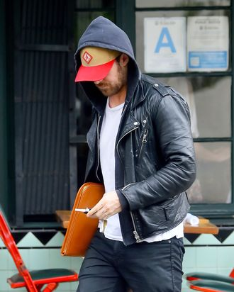 Ryan Gosling takes his new tattoo for a walk.