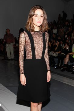 NEW YORK, NY - SEPTEMBER 08:  Actress Rose Byrne attends the Jill Stuart Spring 2013 fashion show during Mercedes-Benz Fashion Week at The Stage, Lincoln Center on September 8, 2012 in New York City.  (Photo by Amy Sussman/Getty Images for Mercedes-Benz Fashion Week)