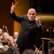 Jaap van Zweden conducts New York Philharmonic's 2017-18 Opening Night conert at David Geffen Hall, 9/19/17. Photo by Chris Lee