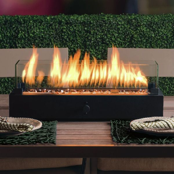 Lara Steel Propane Tabletop Fireplace