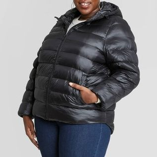 Ava & Viv Women's Plus Size Hooded Puffer Jacket