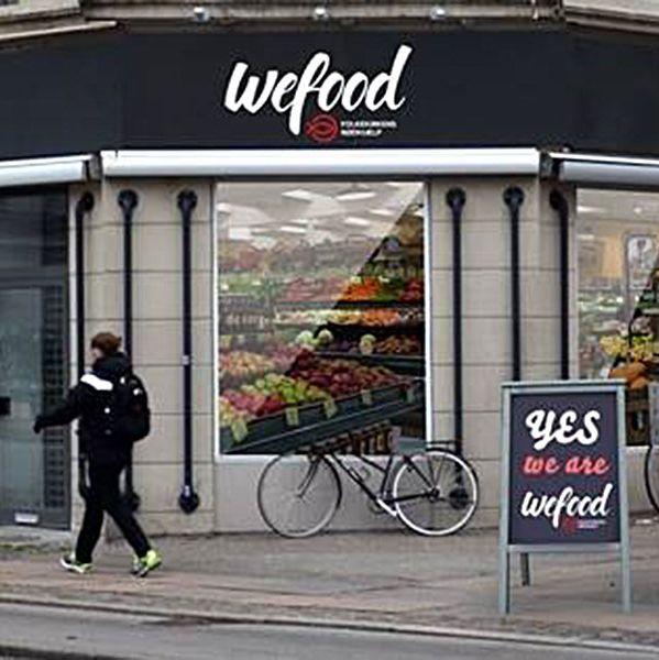 Purportedly Denmark's first surplus-food market.