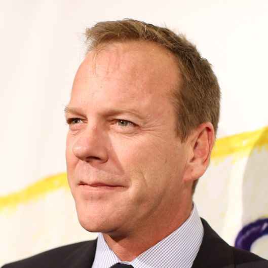 "Actor Kiefer Sutherland attends the ""Stand Up For Gus"" Benefit at Bootsy Bellows on November 13, 2013 in West Hollywood, California."