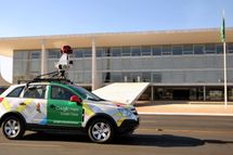 The Google street view mapping and camera vehicle drives in front of the Planalto Palace as it charts the streets of Bras?lia, Brazil's capital, on September 6, 2011. AFP PHOTO/Pedro LADEIRA        (Photo credit should read PEDRO LADEIRA/AFP/Getty Images)