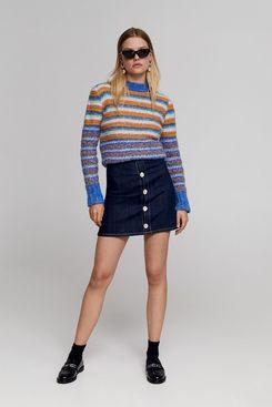 Leandra x Mango Beads Striped Sweater