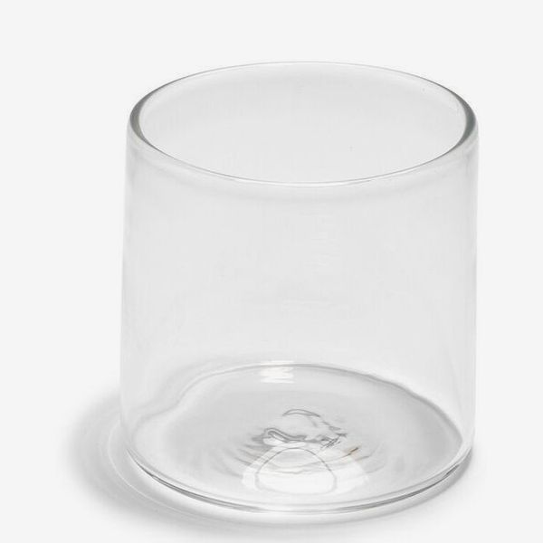 Andrew O. Hughes Handblown Double Old-Fashioned Clear Glass