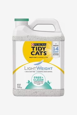 Tidy Cats Lightweight Free & Clean Unscented Clumping Cat Litter, 17 lb