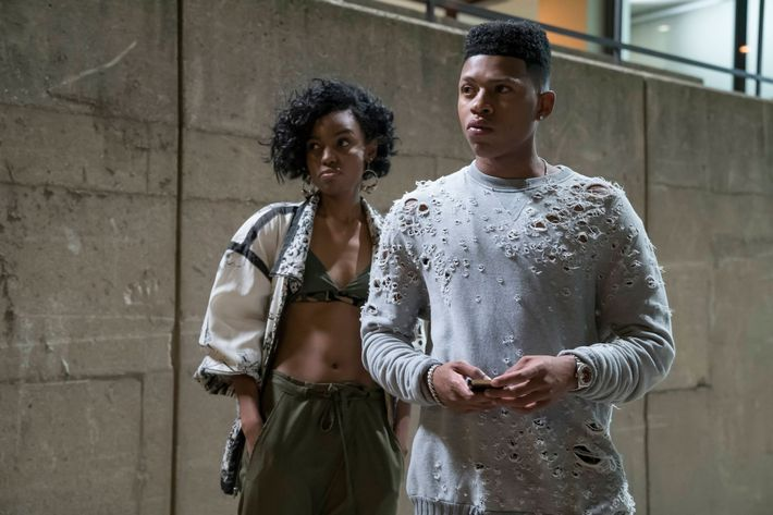 "EMPIRE: Pictured L-R: Guest star Sierra McClain and Bryshere Gray in the ""Sin That Amends"" episode of EMPIRE airing Wednesday, Sept. 28 (9:00-10:00 PM ET/PT) on FOX. ©2016 Fox Broadcasting Co: CR: Chuck Hodes/FOX"